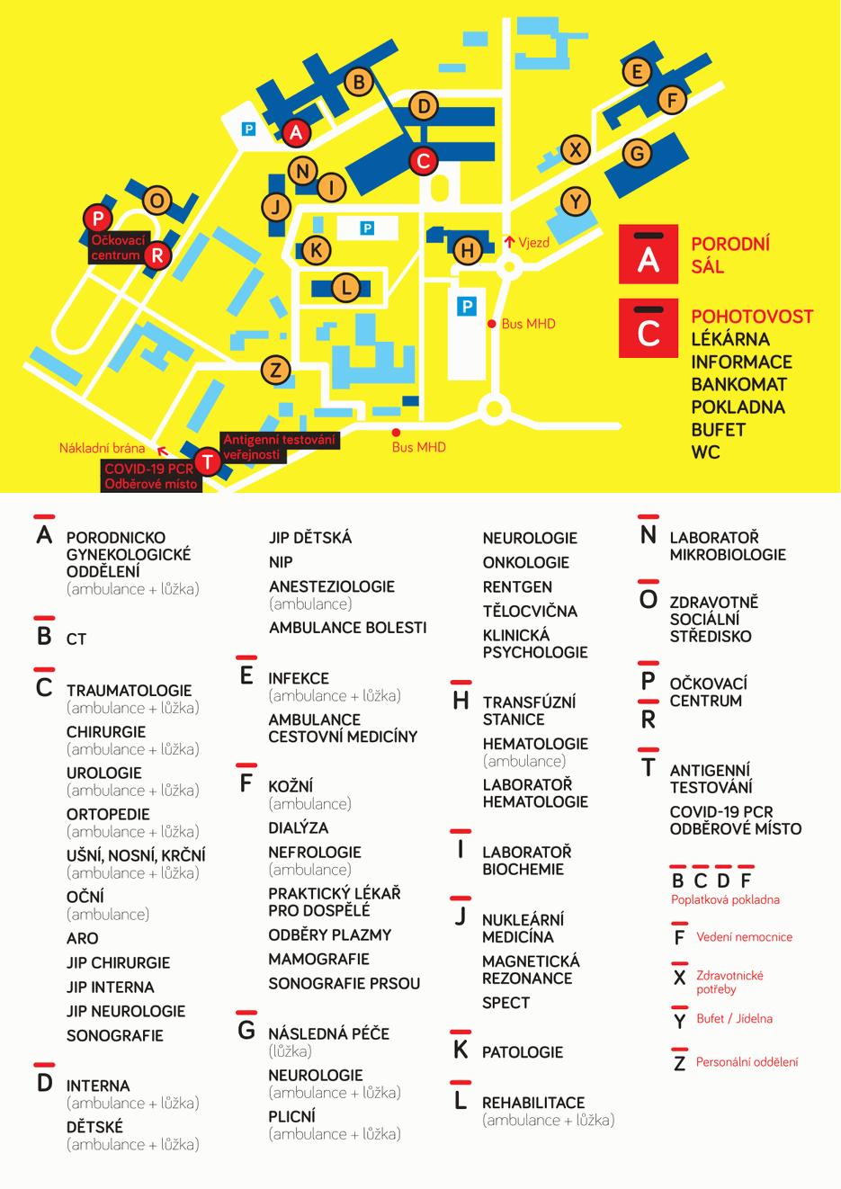 Mapka nemocnice