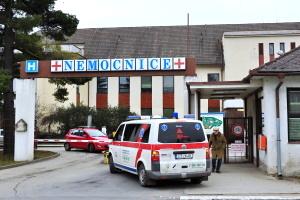Objízdná trasa v areálu nemocnice