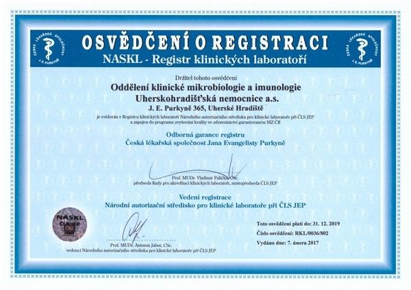 Odbornost 802 - Pracoviště lékařské mikrobiologie