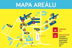 Nová mapa areálu