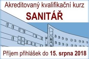 Akreditovaný kvalifikační kurz SANITÁŘ